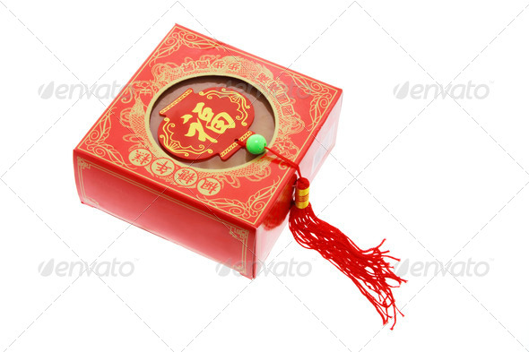Chinese New Year Cake and Trinket - Stock Photo - Images