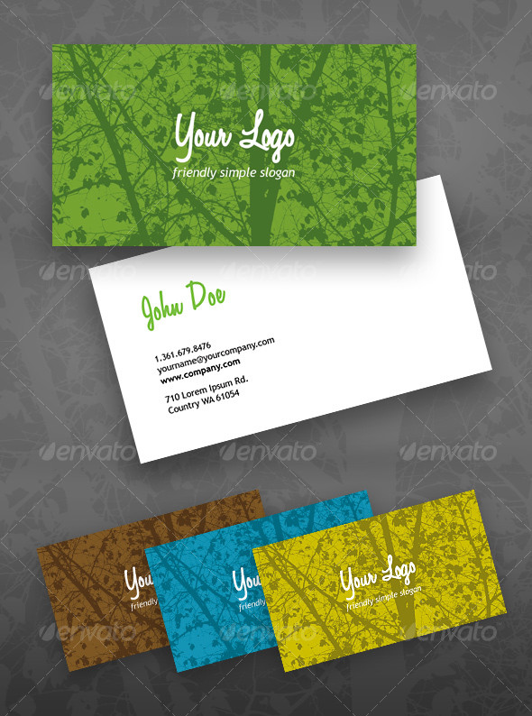 Eco Green business card - Creative Business Cards