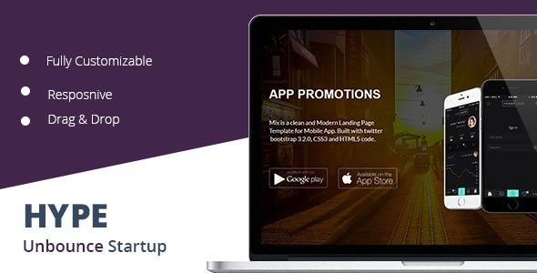 Hype Startup Unbounce Landing Page - Unbounce Landing Pages Marketing