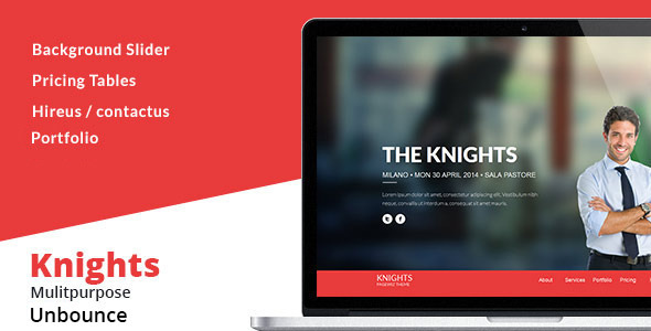 Knights Multipurpose UnbounceTemplate - Unbounce Landing Pages Marketing