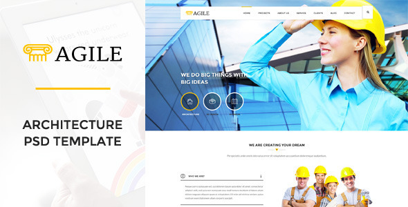 Agile – Building & Construction PSD Template