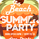 Summer Party Flyer Template PSD - GraphicRiver Item for Sale