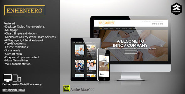 Enhenyero – Engineering/Industrial Muse Template