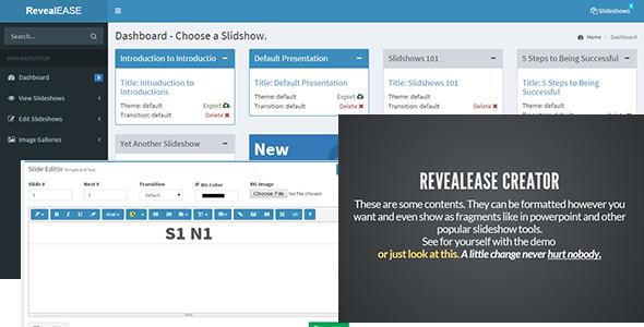 RevealEASE Presentation Creator - CodeCanyon Item for Sale