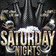 """Saturday Night"" Flyer print template  Nulled"