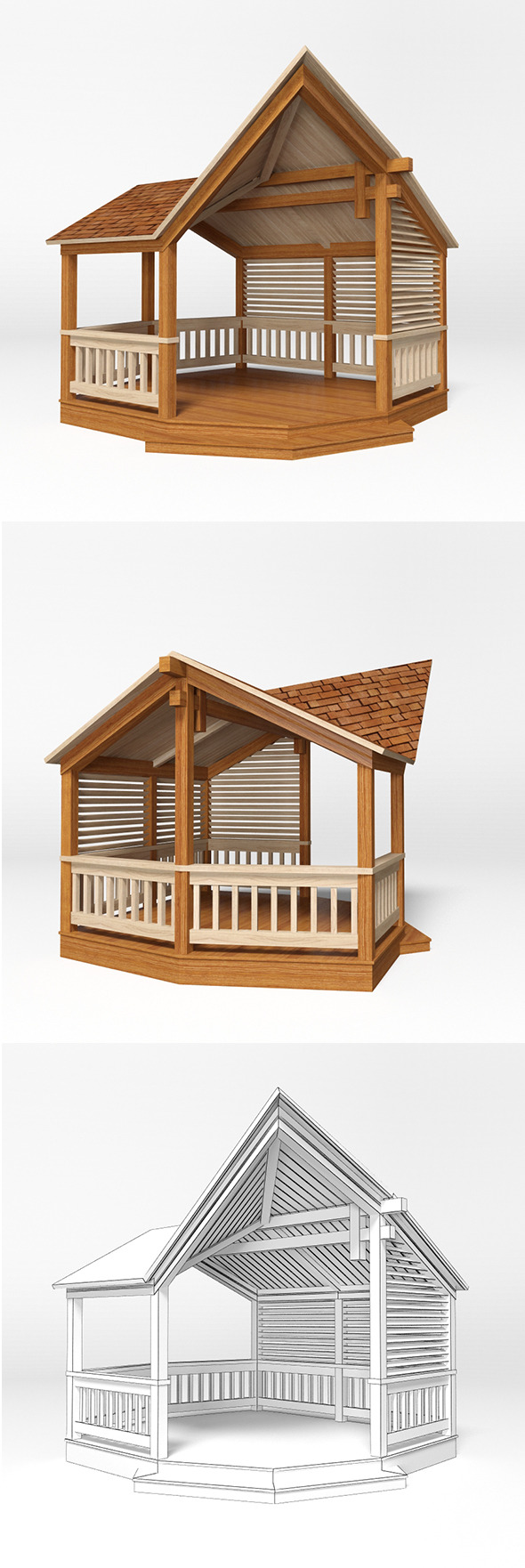 Gazebo 13 - 3DOcean Item for Sale