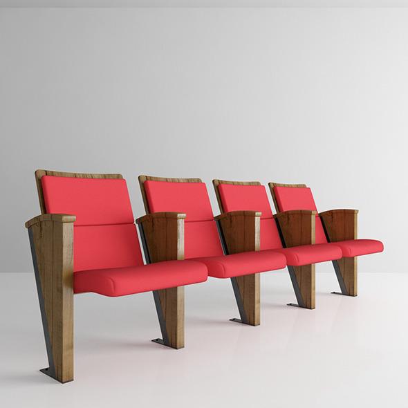 Auditorium Chair Fox - 3DOcean Item for Sale