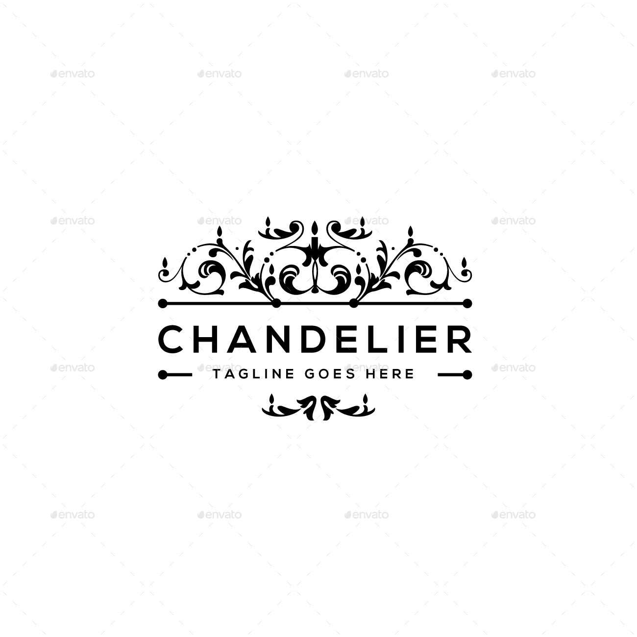 Chandelier logo template by designgarrad graphicriver chandelier logo template arubaitofo Image collections
