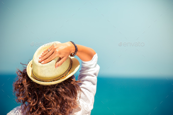Young woman on summer vacation - Stock Photo - Images