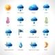 Weather Polygonal Icons