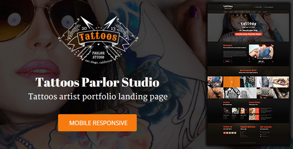 Tattoo Shop – Unbounce Responsive Landing Page