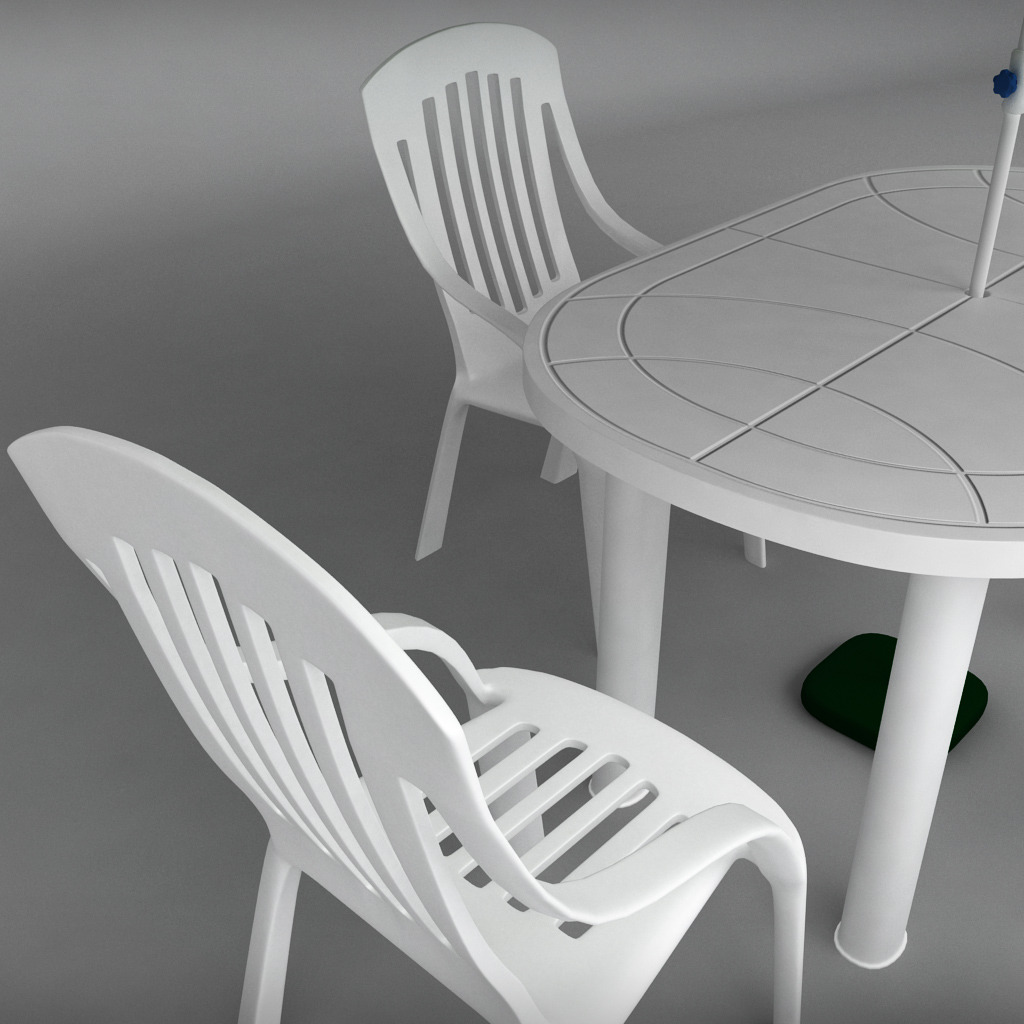Garden plastic furniture 03 jpg. Garden plastic furniture set by kr3atura   3DOcean
