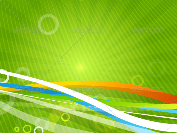 Wavy lines. Vector background - Backgrounds Business