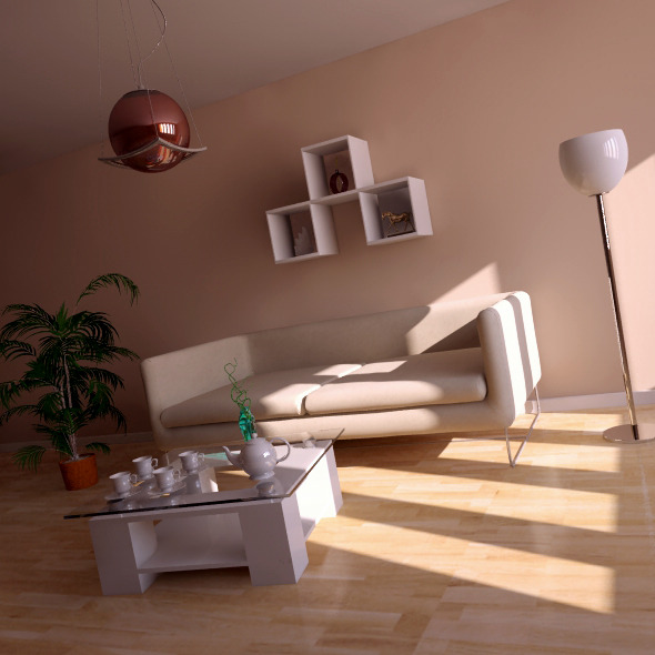 Interior vray+Psd - 3DOcean Item for Sale