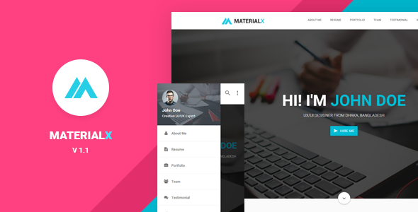 MaterialX – Material Design Personal Template