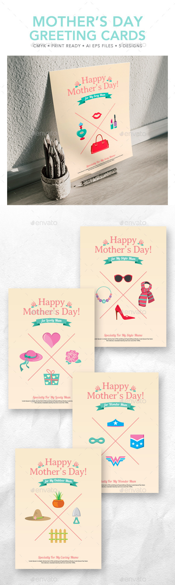 Mother's Day Greeting Card - Holiday Greeting Cards