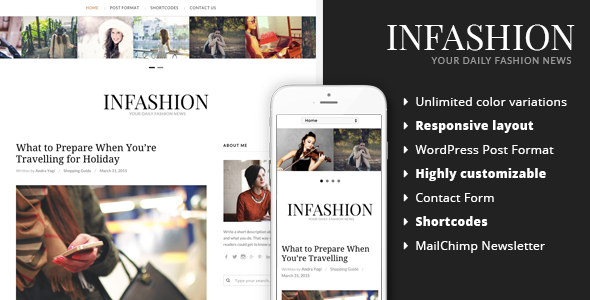 inFashion – Responsive WordPress Blog Theme