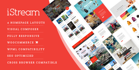 iStream - Creative Responsive WordPress Shop Theme