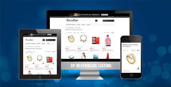 SP Responsive Listing - Prestashop Module - CodeCanyon Item for Sale