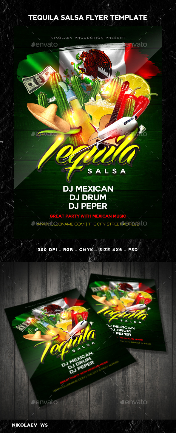 tequila party flyer by maksn
