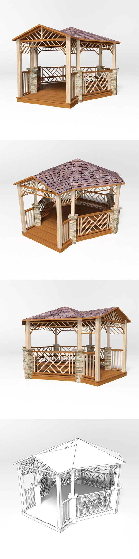 Gazebo 18 - 3DOcean Item for Sale