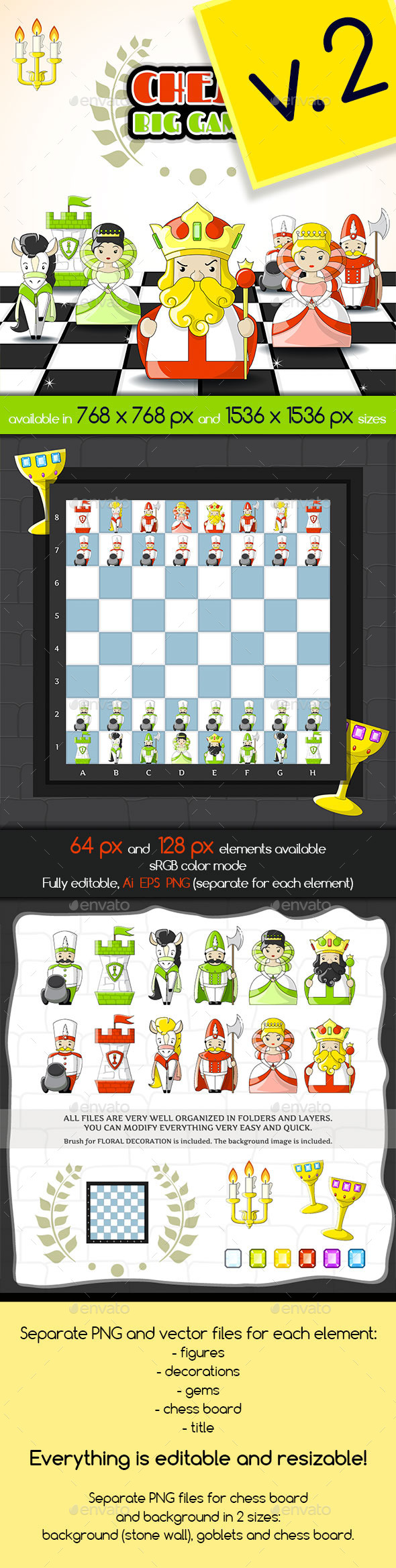2D Cute Chess Game Kit - Miscellaneous Game Assets