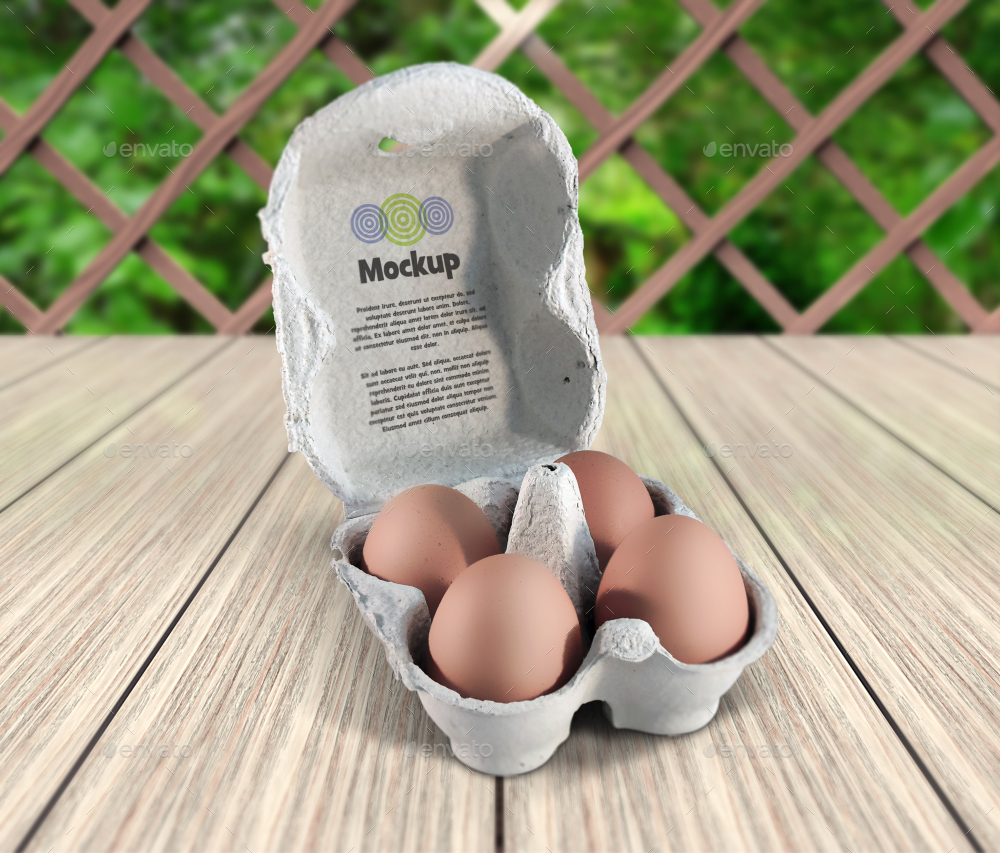 4 Count Egg Carton Mockup By Fusionhorn Graphicriver