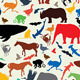 Animals Silhouette Seamless Pattern - GraphicRiver Item for Sale