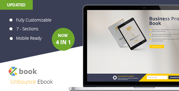 Ebook  Unbounce Template - Unbounce Landing Pages Marketing