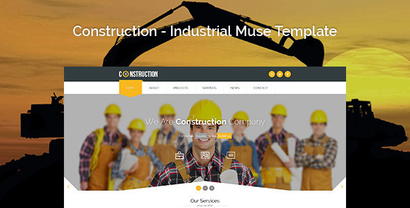 Construction - Industrial Muse Template - Corporate Muse Templates