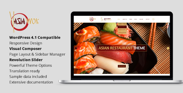 Asia Wok – Responsive Restaurant WordPress Theme