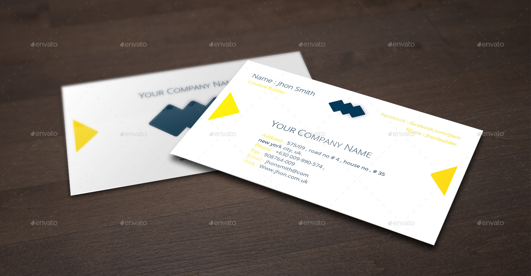Creative Builder Business Card Design by silenuspixel | GraphicRiver