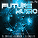 """Future Music"" Flyer print template Nulled"