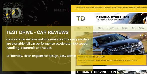 Test Drive - Car reviews - CodeCanyon Item for Sale
