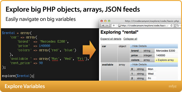 Explore Variables - CodeCanyon Item for Sale