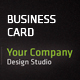 Black Business Card - GraphicRiver Item for Sale
