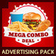 Restaurant Fast Food Advertising Bundle Pack - GraphicRiver Item for Sale