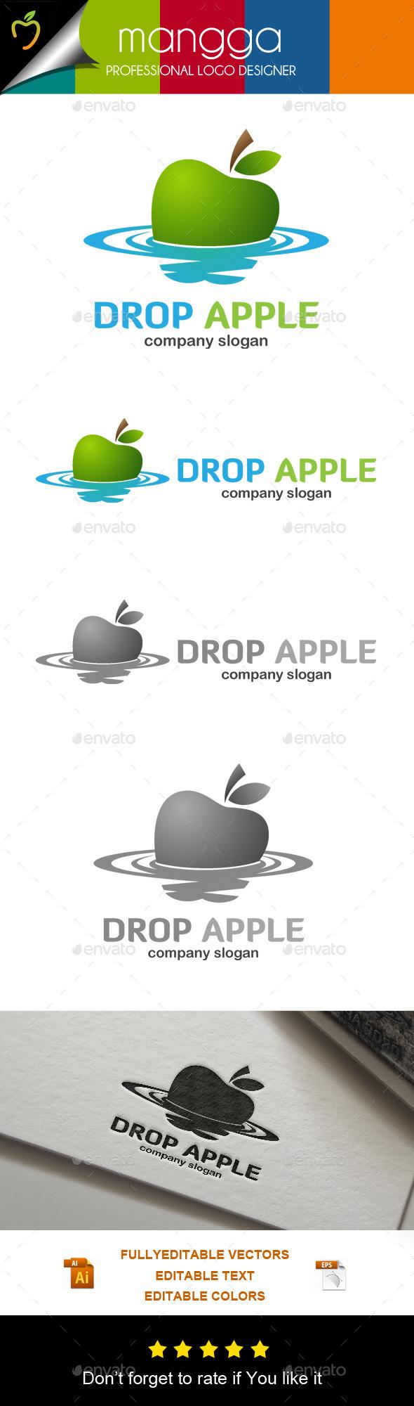 Drop Apple Logo