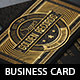 Gold Decorated Business Card Template - GraphicRiver Item for Sale