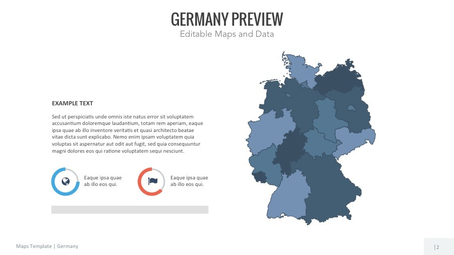 Germany Map Editable Map Presentation By Slidekingdom GraphicRiver - Germany map template