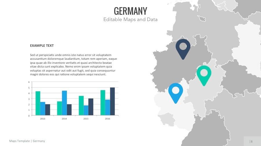 Germany Map - Editable Map Presentation by slidekingdom | GraphicRiver