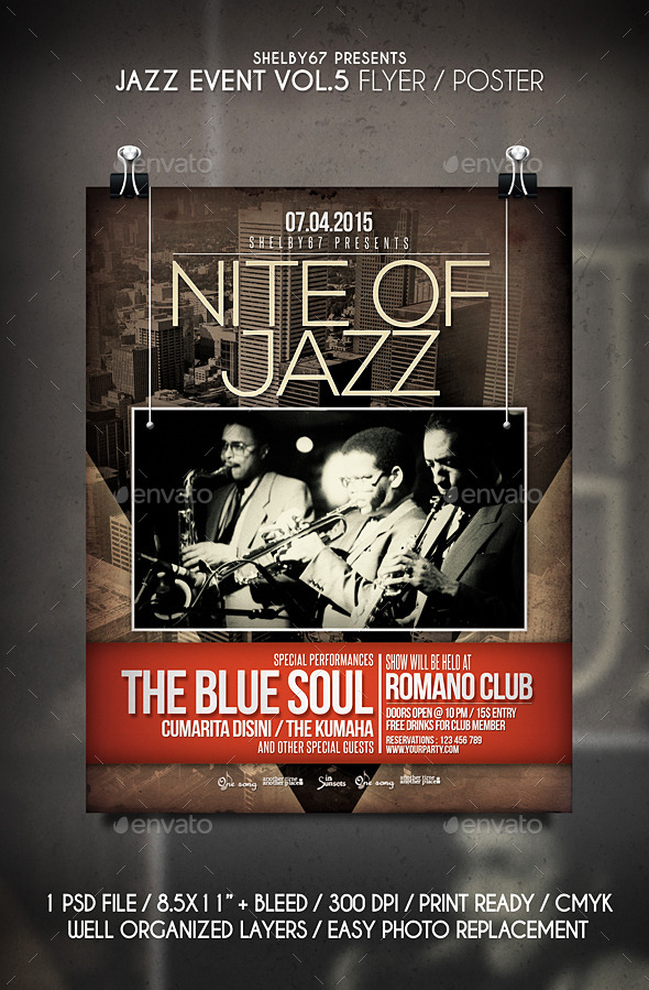 Jazz Event Flyer / Poster Vol 5 - Events Flyers