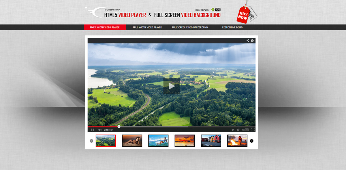 Html5 video players wordpress plugins bundle by for Html5 video player template