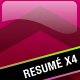 Resumé Pack (x4) - GraphicRiver Item for Sale