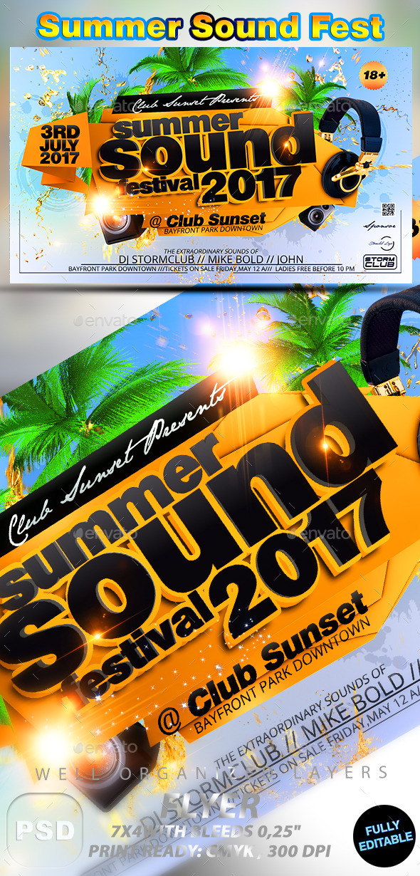 Summer Sound Fest - Events Flyers