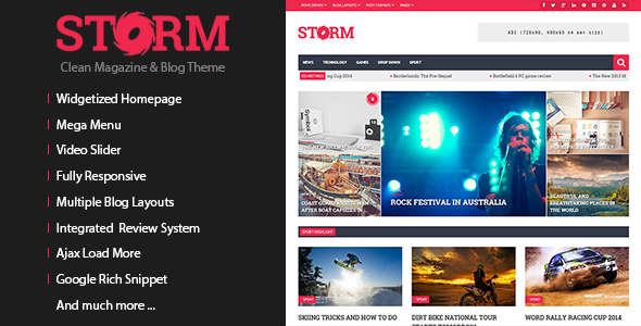 Storm – Clean Magazine & Blog Theme