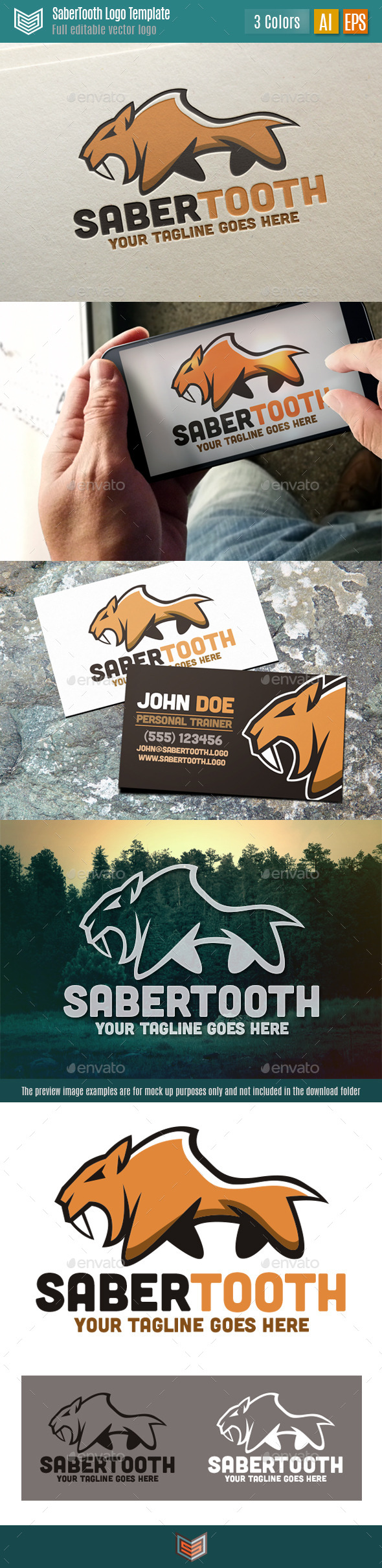 Saber Tooth Logo - Animals Logo Templates
