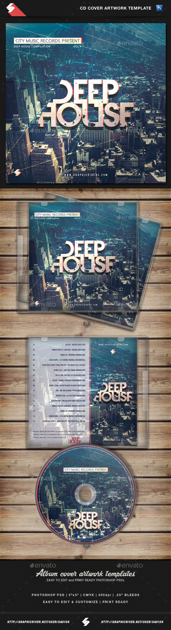 Deep house cd cover artwork template by sao108 for List of deep house music