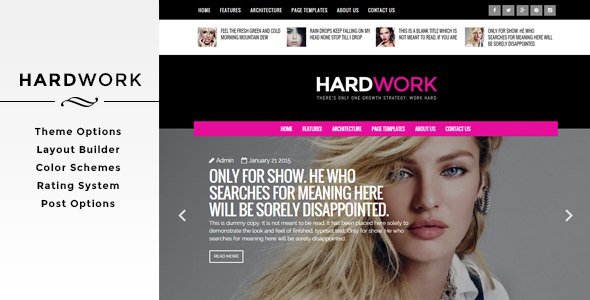 HardWork - Magazine WordPress Theme