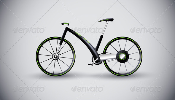 Concept bike for urban transportation. product - Sports/Activity Conceptual